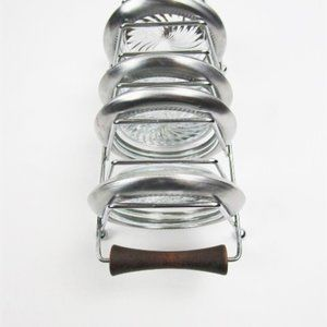 Mod SIlver Plated/Glass Coasters with Rack